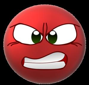 Smiley en colère